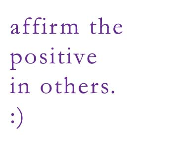 Affirm the positive copy